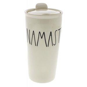 Rae Dunn Namaste travel to go coffee tea tumbler
